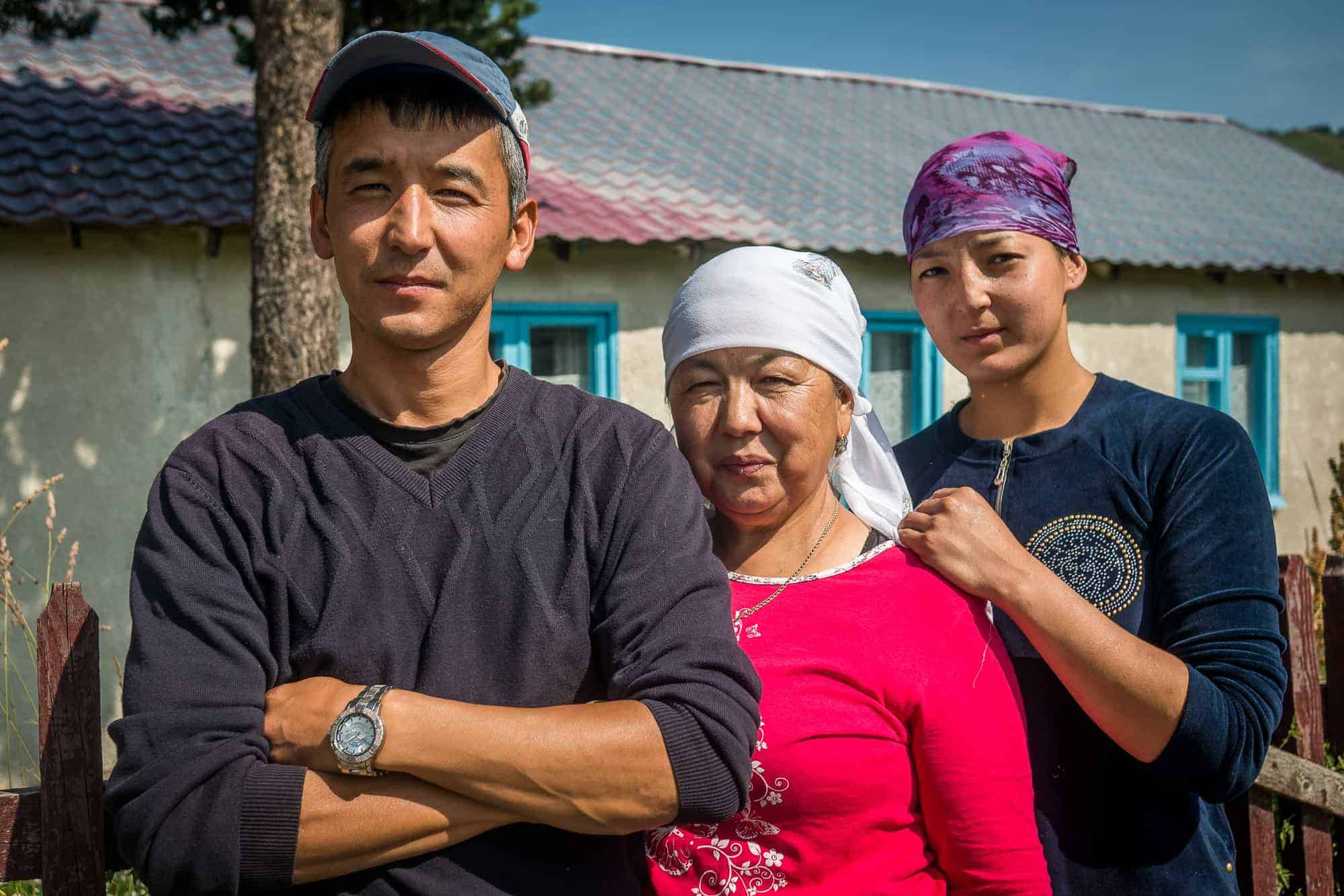 Begaiym and Ulan Urakunova, owners of Ulan Hostel