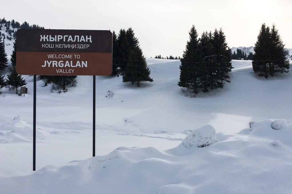 Road Signs for Jyrgalan